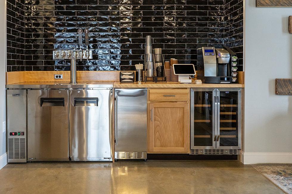 Studio Lab coffee bar with kegerator