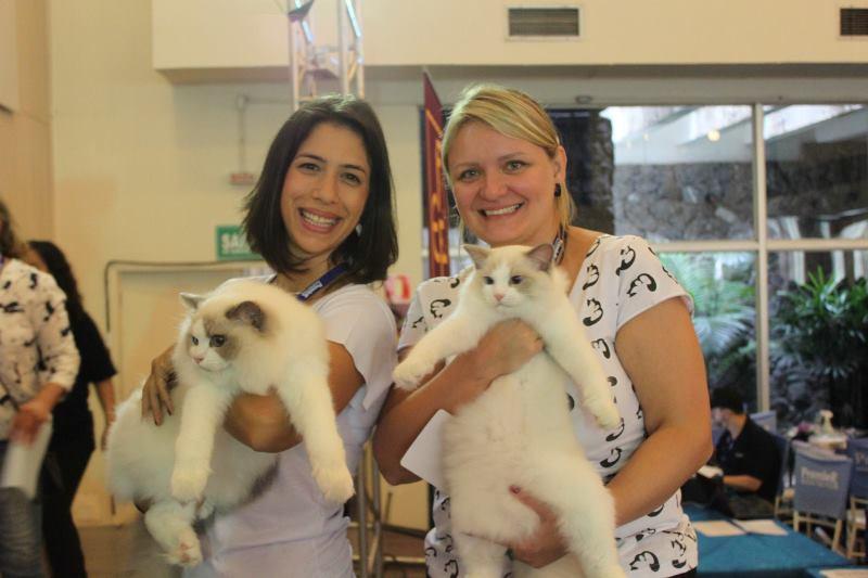 Julia com Blizard e Carla com Calvin