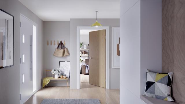 Nordic Hallway : Product rendering