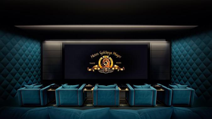 Cinema : interior rendering
