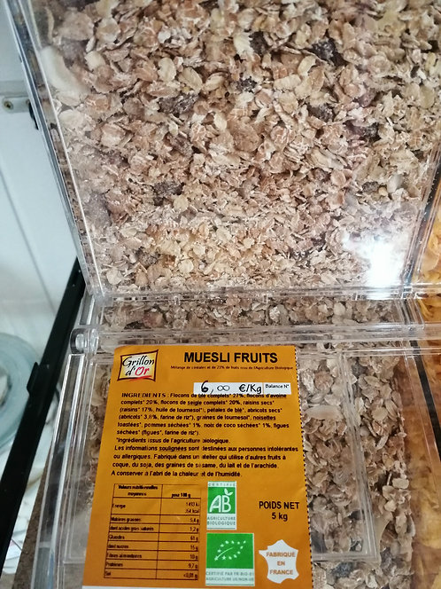 MUESLI AUX FRUITS