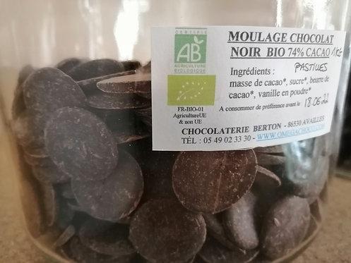 PASTILLES DE CHOCOLAT NOIR BIO 74% CACAO