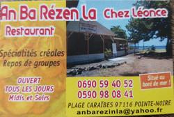 An Ba Rézen La, chez Léonce, Plage Caraibes