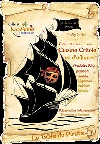 la table du pirate chez kazAnne Guadeloupe