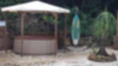 Nouvelle plage jacuzzi et douche