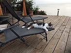 notre deck face a la mer Caraibes