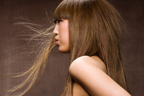 """Straight Wig With Bangs Light Brown 22"""""""