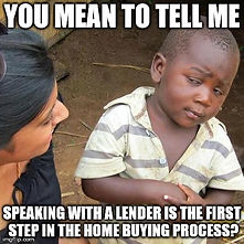 photo talking to a lender is first step in home buying