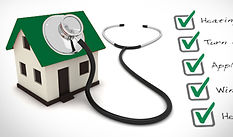 photo of home with stethoscope-inspection of home