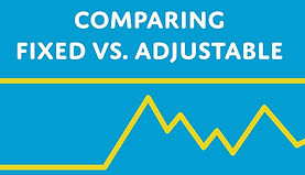 image comparing fixed rate loan vs adjustable rate loan