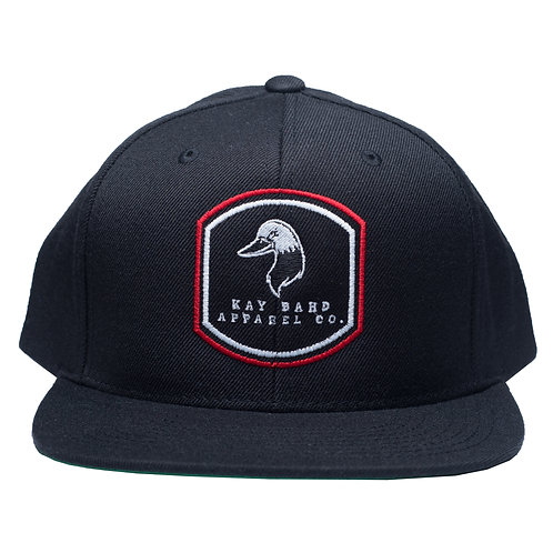 Black Shield Flat Brim Snapback