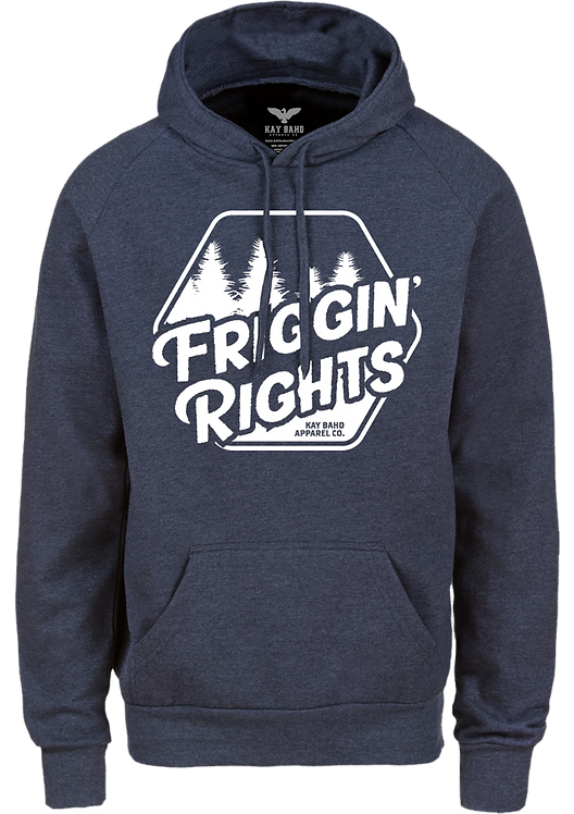 Navy Heather Friggin' Rights Hoodie