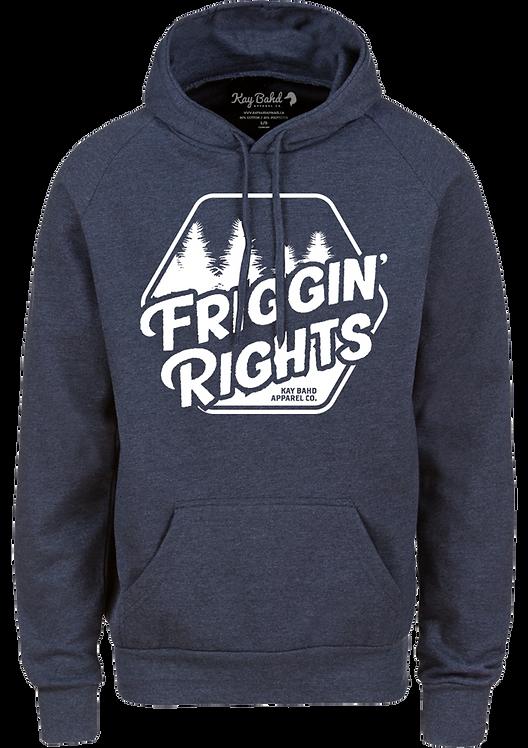 Navy Heather Friggin' Rights Hoodie