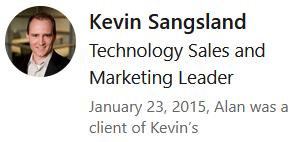 Kevin Sangsland LinkedIn