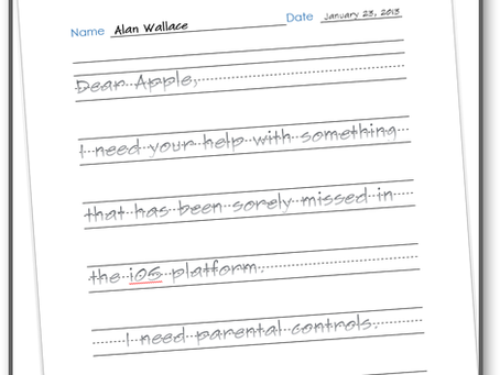 Dear Tim Cook: Letter from an American Dad, Apple iOS Parental Controls