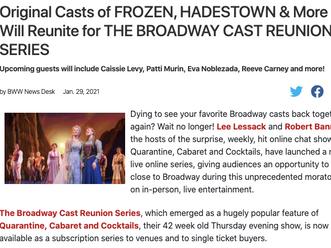 Broadway World Announces The Broadway Cast Reunion Series!