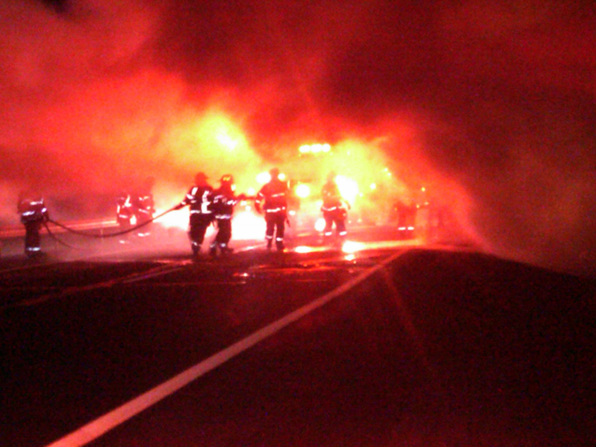Box truck fire 12 6 2010