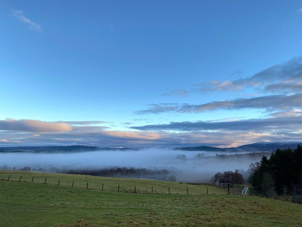 clouds, sunrise, hills