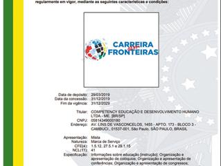 Certificado de Registro da Marca Carreira Sem Fronteiras