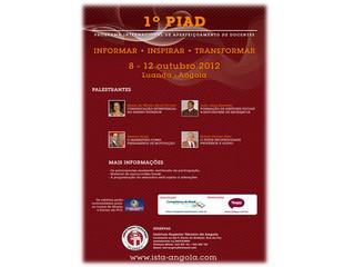 1º PIAD – Programa Internacional de Aperfeiçoamento de Docentes