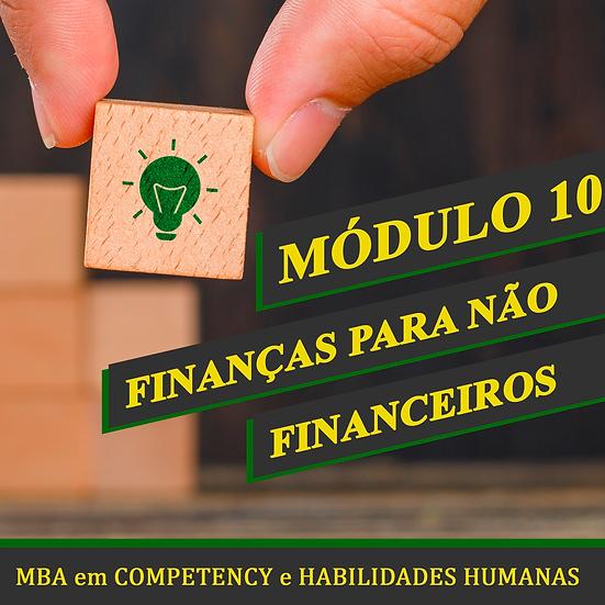 Módulo 10 - Finanças para Não Financeiros - MBA em COMPETENCY e H.H.