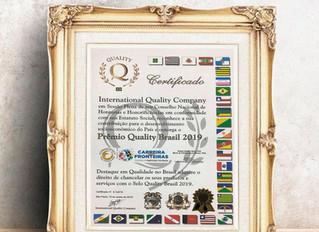 COMPETENCY DO BRASIL RECEBE DA INTERNATIONAL QUALITY COMPANY O PRÊMIO QUALITY BRASIL 2019