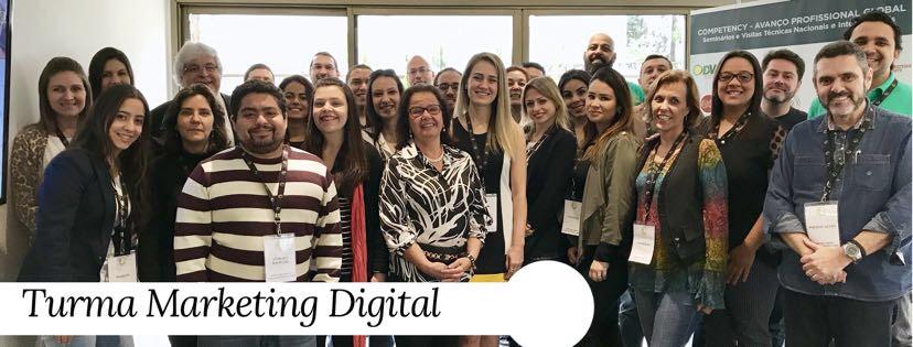 Turma do Curso de Marketing Digital