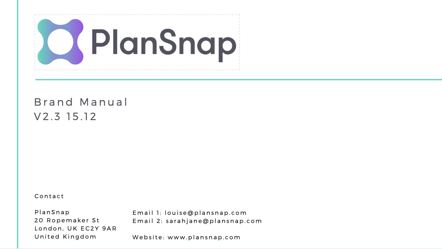PlanSnap Brand Manual
