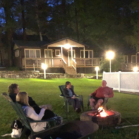 Enjoying the firepit with our guests.