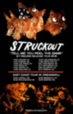Struckout record release and east coast tour starts July 20th!