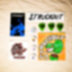 Struckout's Accessories Pack with Stickers, Pins, Patches & Guitar Picks