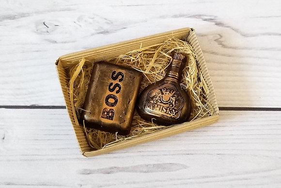 Подарочный набор Большой босс из фигурного мыла ручной работы: boss; виски; Творческий клуб Мастерская подарков