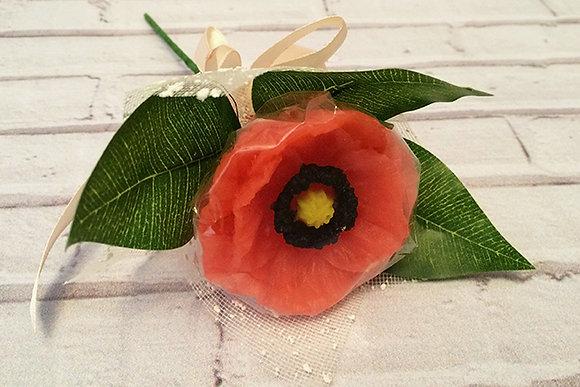 Букеты из мыла ручной работы, в наличии и на заказ, оригинальный подарок на праздник, цветок мака, мак