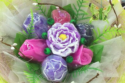 Букеты из мыла ручной работы, в наличии и на заказ, оригинальный подарок на праздник, букет цветов ассорти