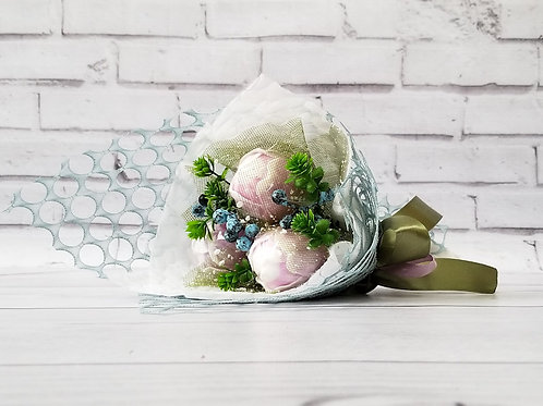 Букет цветов из мыла ручной работы тюльпаны
