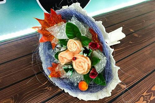 Букеты из мыла ручной работы, в наличии и на заказ, оригинальный подарок на праздник, букет роз, цветок розы.