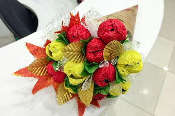Букет с конфетами ручной работы, в наличии и на заказ, оригинальный подарок на праздник, день рождения.
