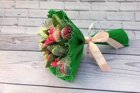 Букеты с конфетами ручной работы, в наличии и на заказ, оригинальный подарок на праздник, букеты из конфет, сладкий букет.