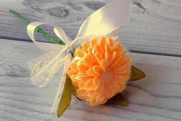 Букеты из мыла ручной работы, в наличии и на заказ, оригинальный подарок на праздник, цветок хризантемы, хризантема