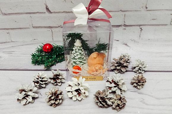 """Картинка подарок на Новый год. Набор """"Лесная сказка с поросёнком на спинке"""" ТК """"Мастерская подарков"""""""