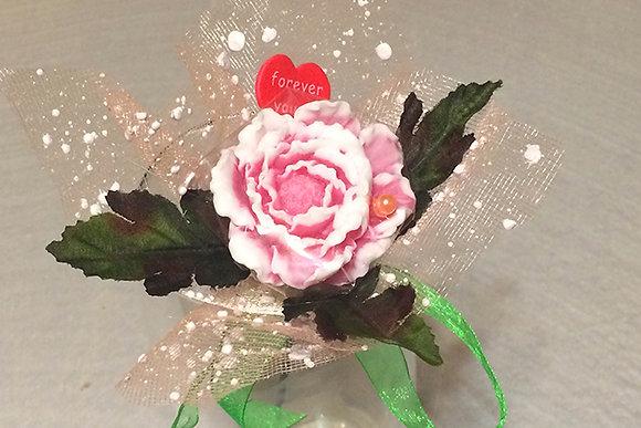 Букеты из мыла ручной работы, в наличии и на заказ, оригинальный подарок на праздник, цветок пиона, пион