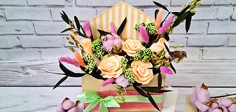 ЭКО композиция роз в конверте