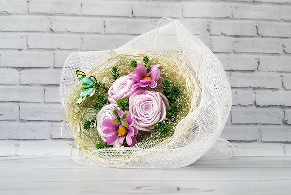Букет цветов из мыла ручной работы ранункулюсы