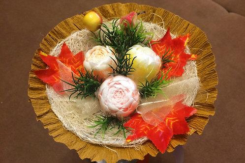 Букеты из мыла ручной работы, в наличии и на заказ, оригинальный подарок на праздник, букет пионов