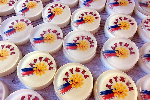 """Мыло с логотипом, надписью, картинкой на заказ. Москва. Творческий клуб """"Мастерская подарков"""""""