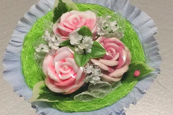 Букеты из мыла ручной работы, в наличии и на заказ, оригинальный подарок на праздник, букет роз