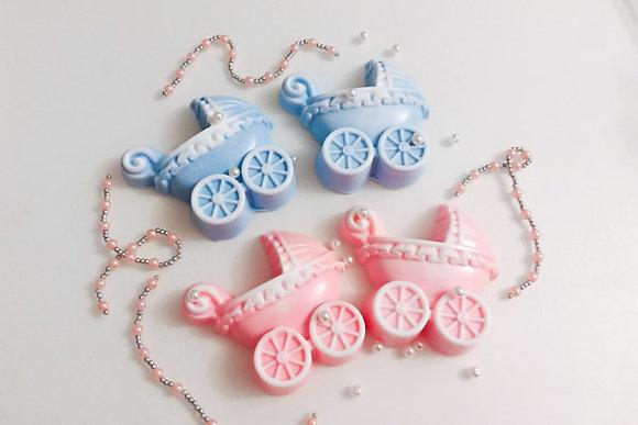 Мыло розовая и голубая детские коляски