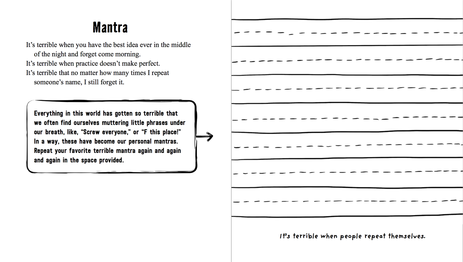 My Mantra - Activity