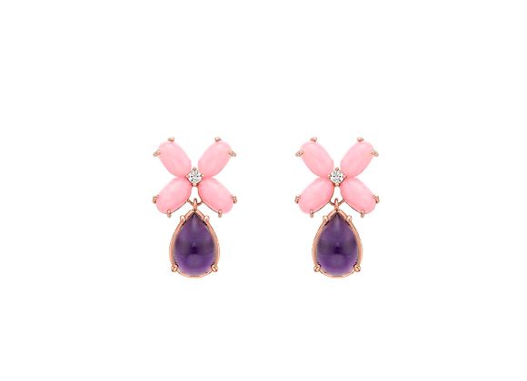 Pink Opal Earring