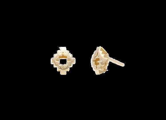 Objet Gold Stud Earring